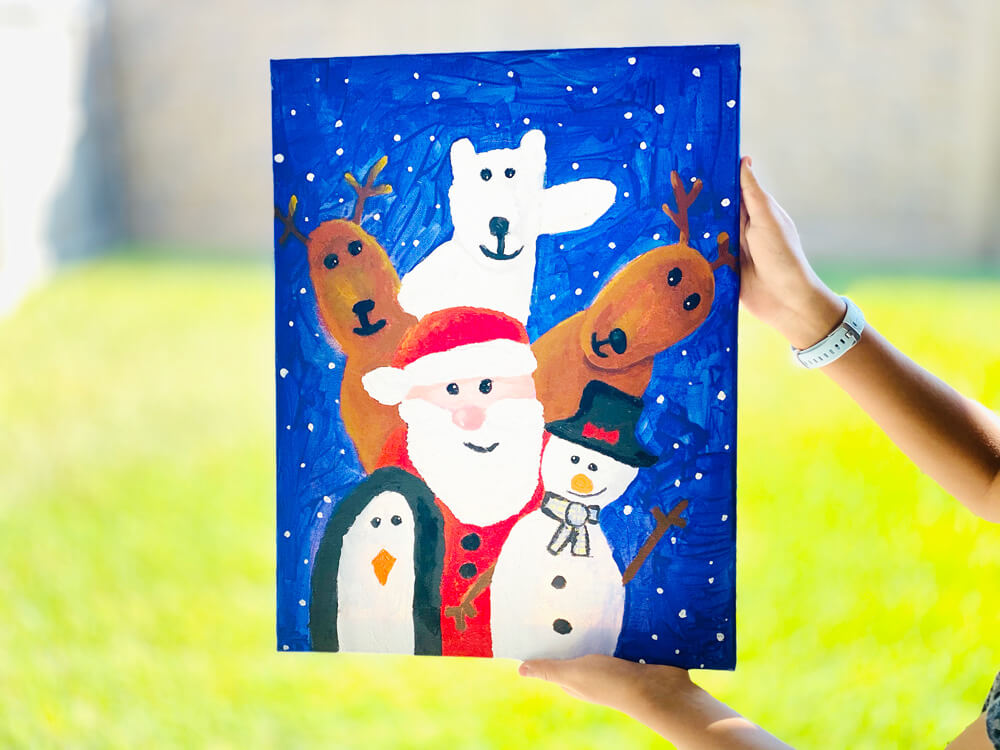 2-Day Online Christmas-Themed Art Camp for Kids