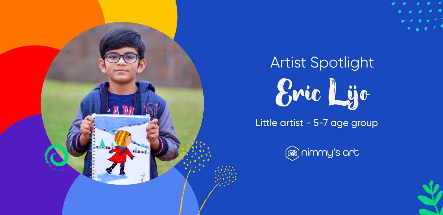 Eric Lijo in the Artist Spotlight Blog holding the Snow World project