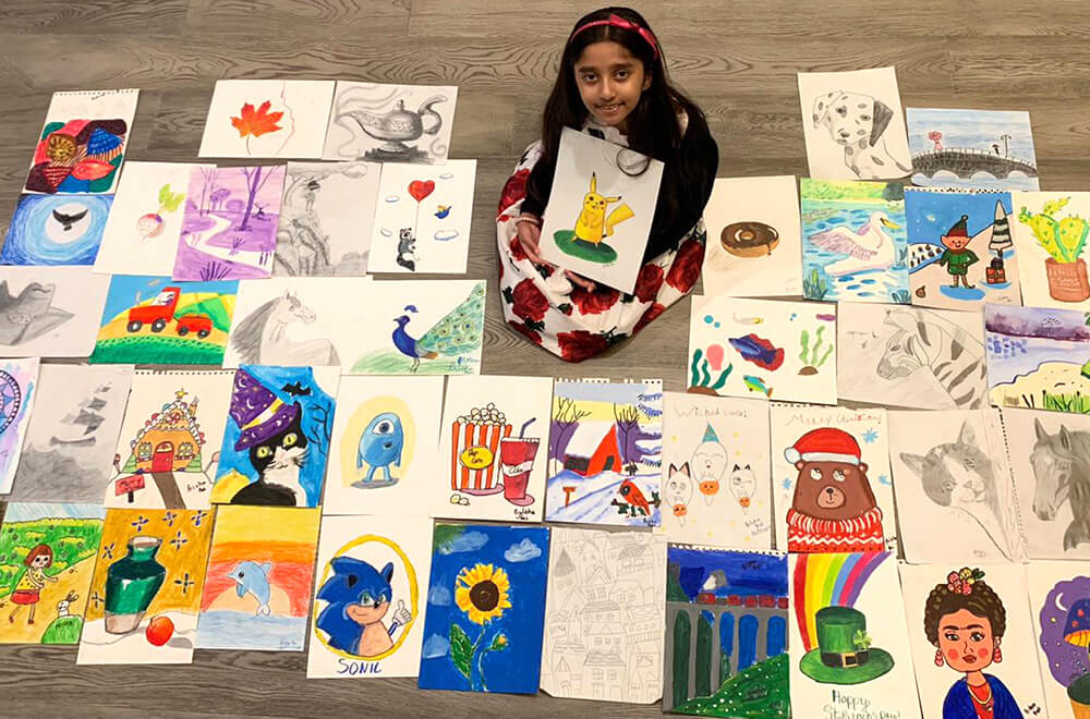 All artworks by Prisha in multiple mediums at Nimmy's Art