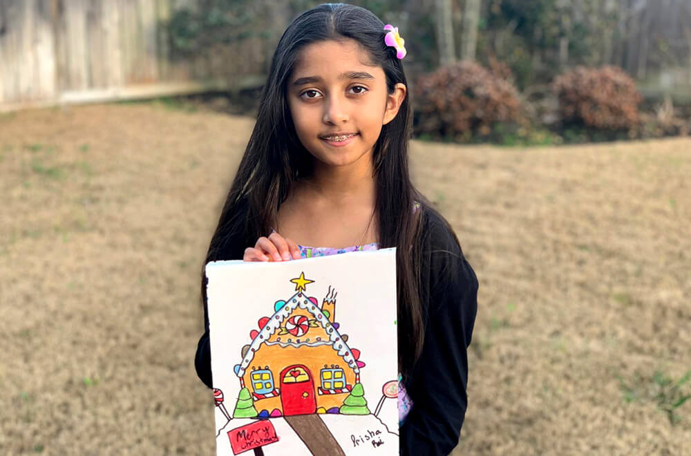 Prisha's halloween artwork for the Halloween Art Contest at Nimmy's Art