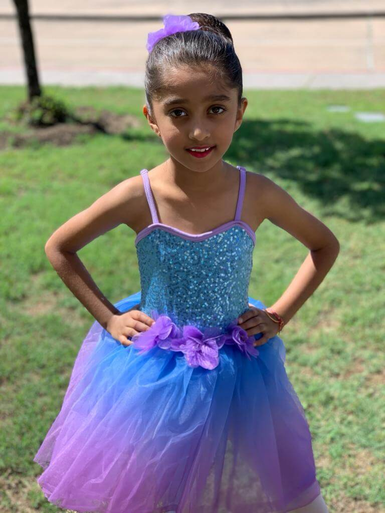 Prisha in her ballet dress