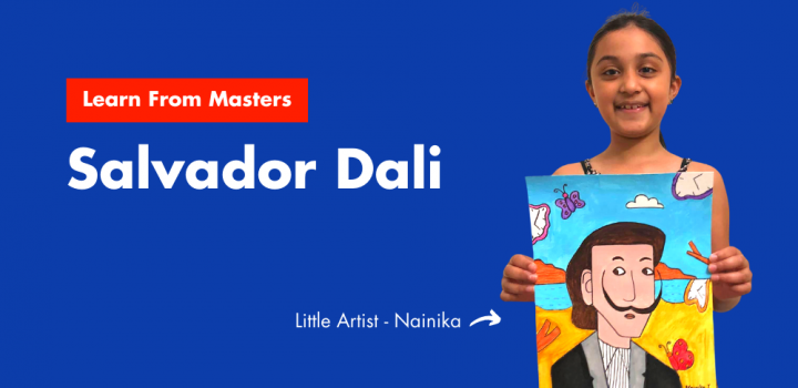 Cover image with Nainika and her Salvador Dali portrait