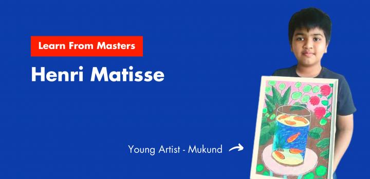 Henri Matisse's ARtwork by Mukund Menon in Nimmy's Art classes in Katy, Texas